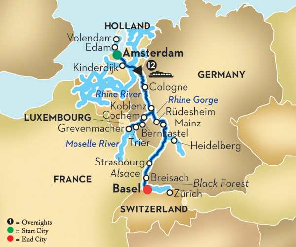 Cheap Rhine River Cruises: Moselle & Rhine River Cruise