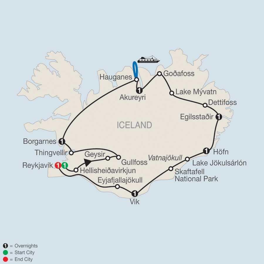 Iceland Adventure map
