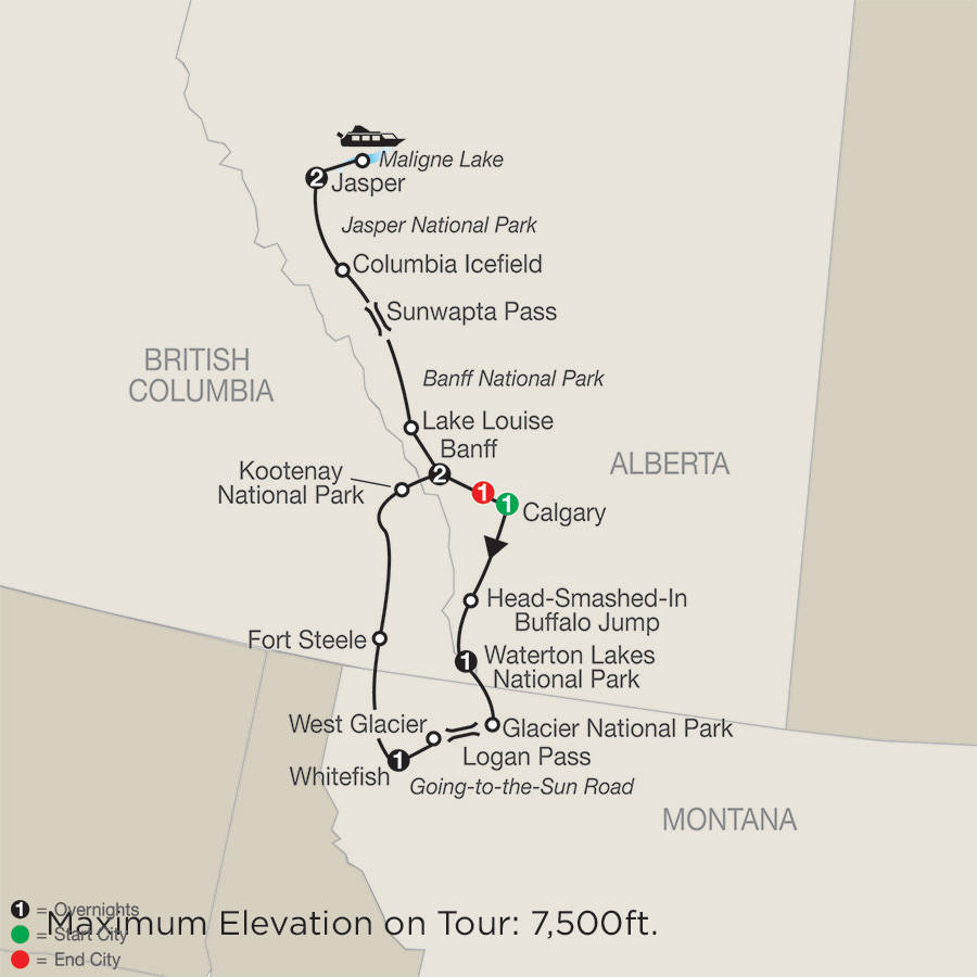 Itinerary Glacier National Park Amp The Canadian Rockies 2018