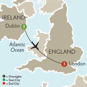 routes lond dublin london