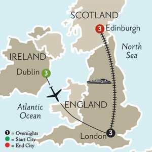 Dublin, London & Edinburgh