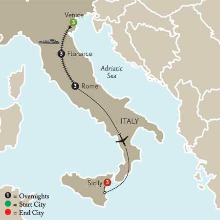 Venice, Florence, Rome & Sicily