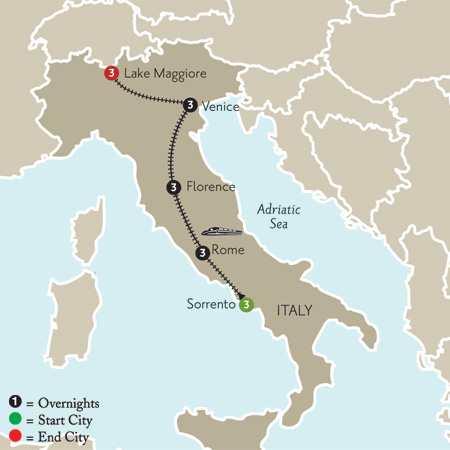 Sorrento, Rome, Florence, Venice & Lake Maggiore