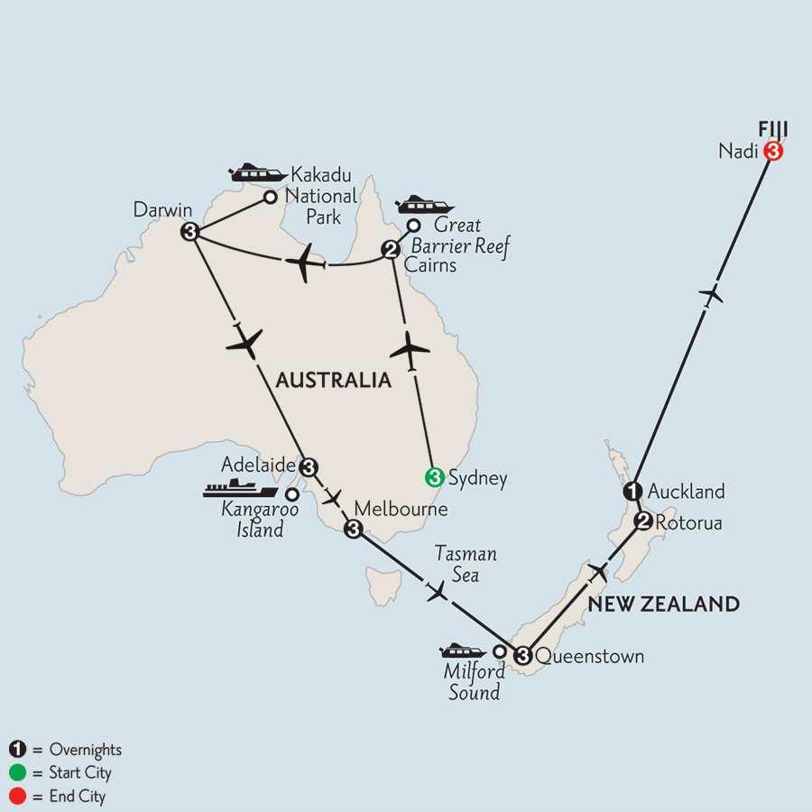 Australian Odyssey with Queenstown, Rotorua & Fiji