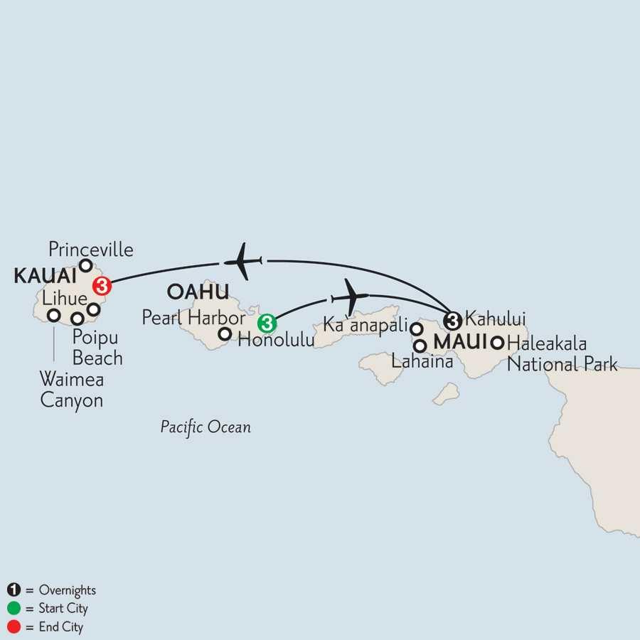 Oahu, Maui & Kauai