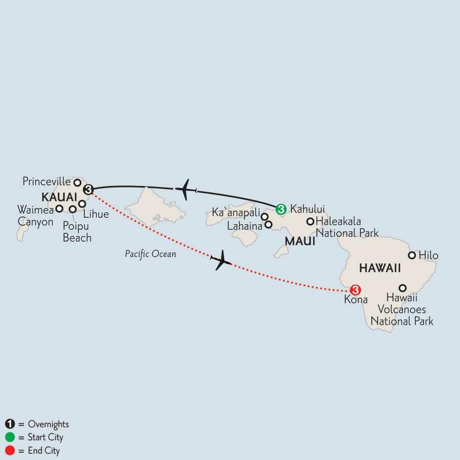 Maui, Kauai & Kona