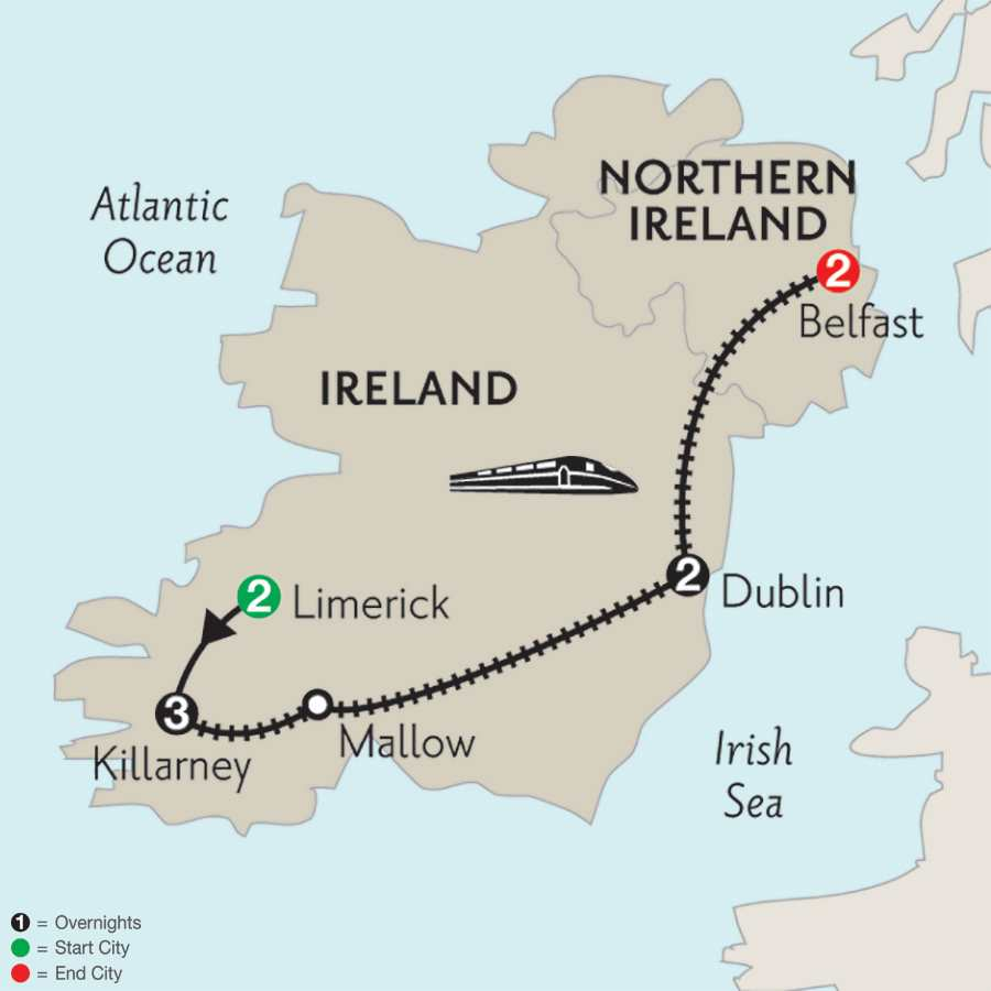 Limerick, Killarney, Dublin & Belfast
