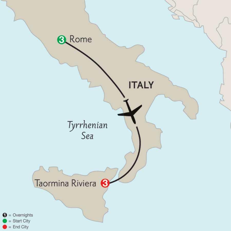 Rome & Taormina Riviera
