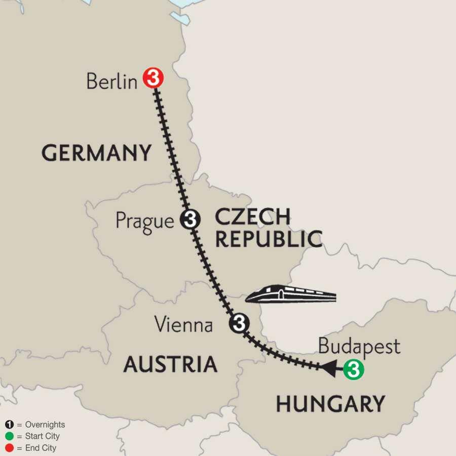 Budapest, Vienna, Prague & Berlin