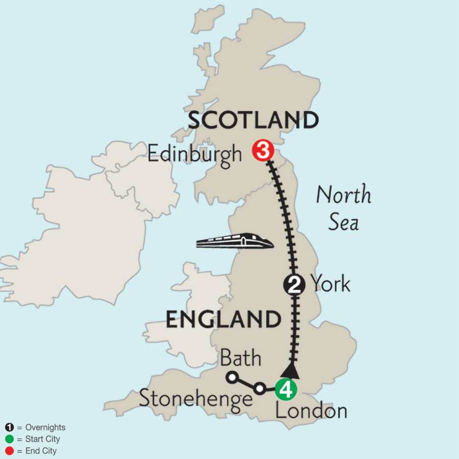 London, York & Edinburgh with Stonehenge & Bath