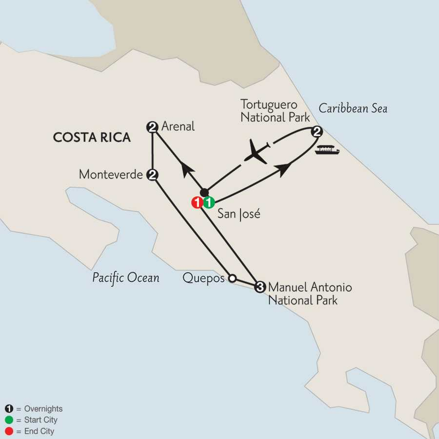 Costa Rica Wonders with Tortuguero & Manuel Antonio