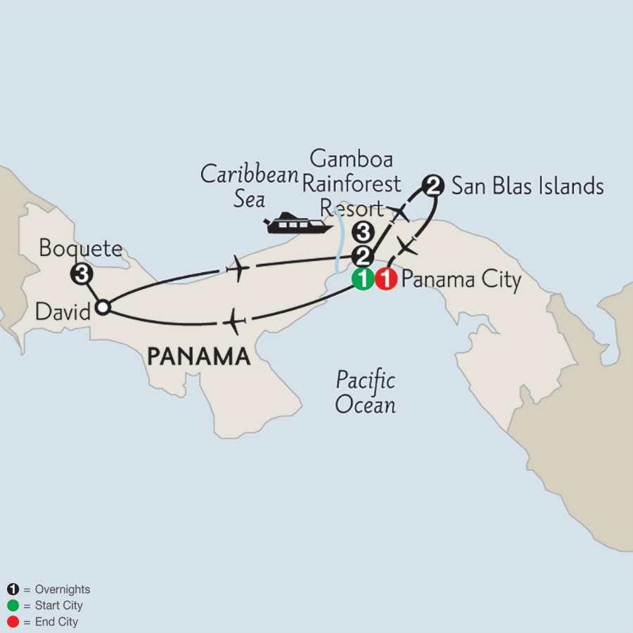 with Boquete & San Blas islands