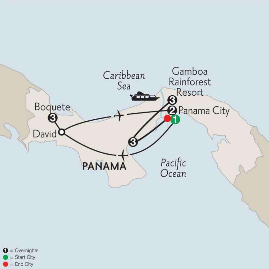 with Boquete & Pacific Coast