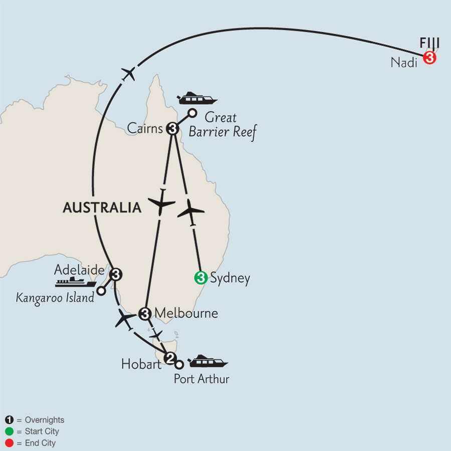Australian Escape with Hobart, Adelaide & Fiji
