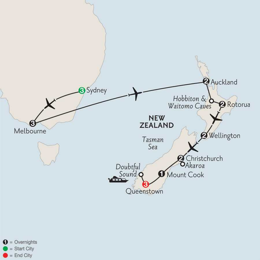 Naturally New Zealand with Sydney & Melbourne