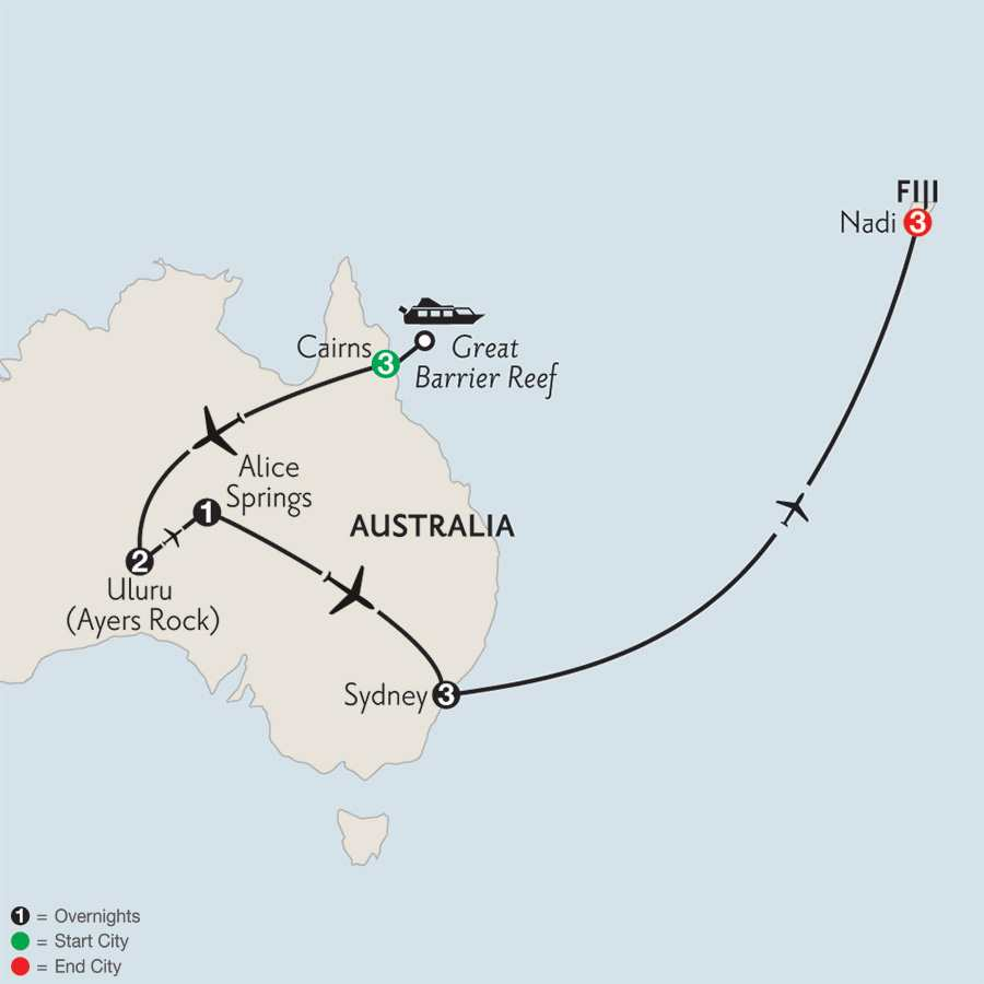 Journey Down Under with Fiji