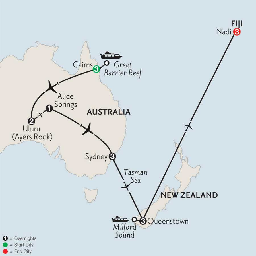 Journey Down Under with Queenstown & Fiji