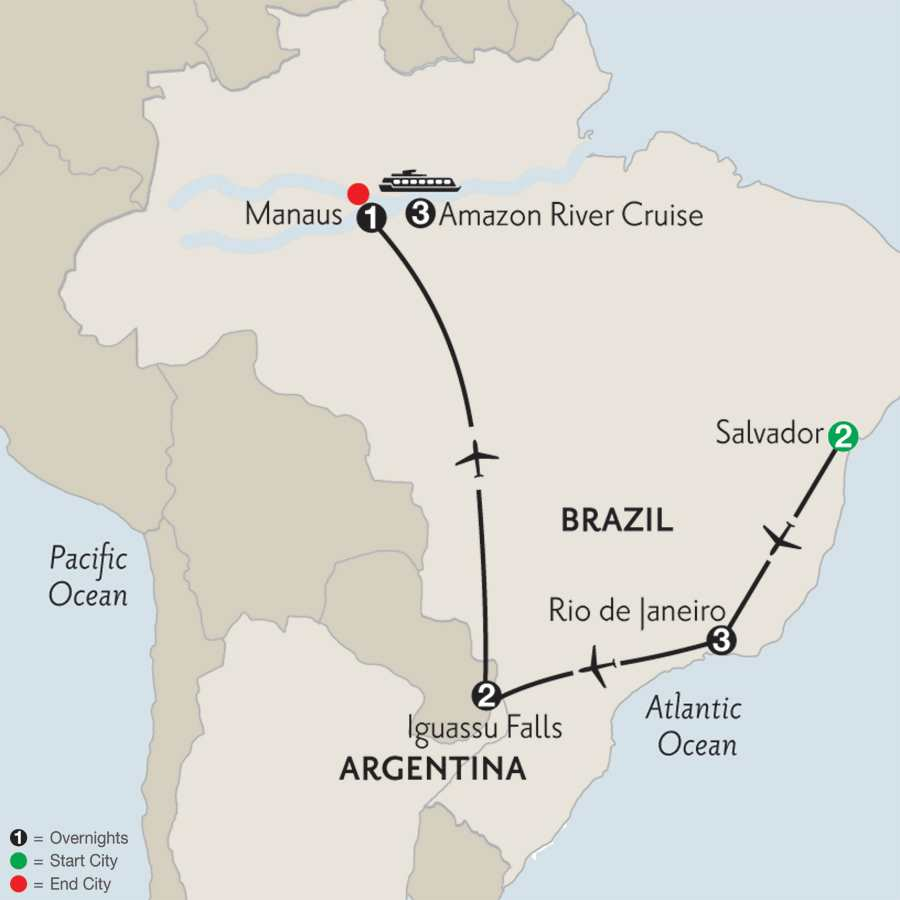 Amazonia Voyage with Rio, Iguassu & Salvador