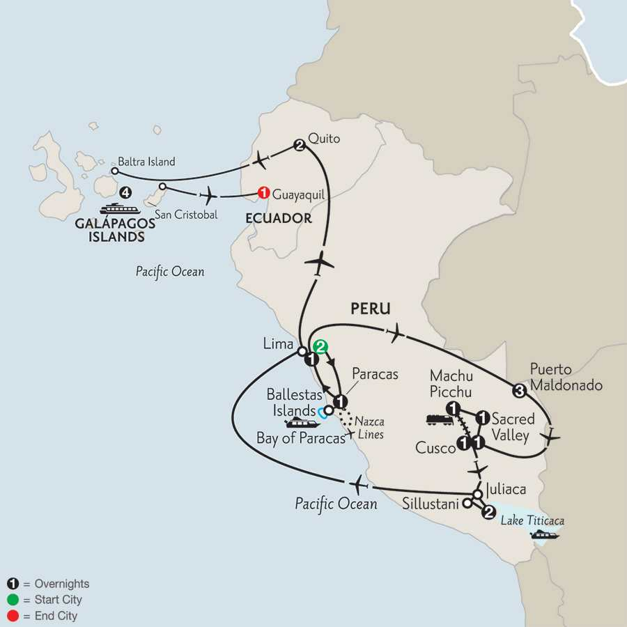 Andean Explorer with Peru's Amazon & the Galápagos on the Santa Cruz
