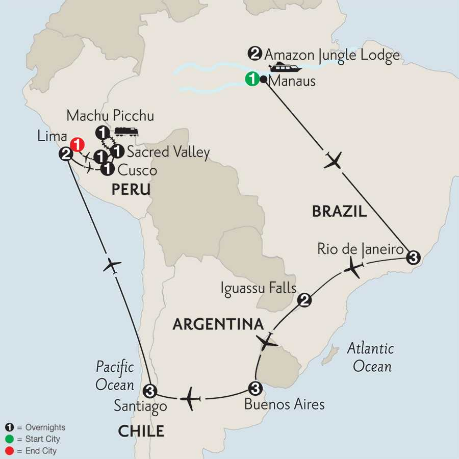 with Brazil's Amazon, Peru & Machu Picchu