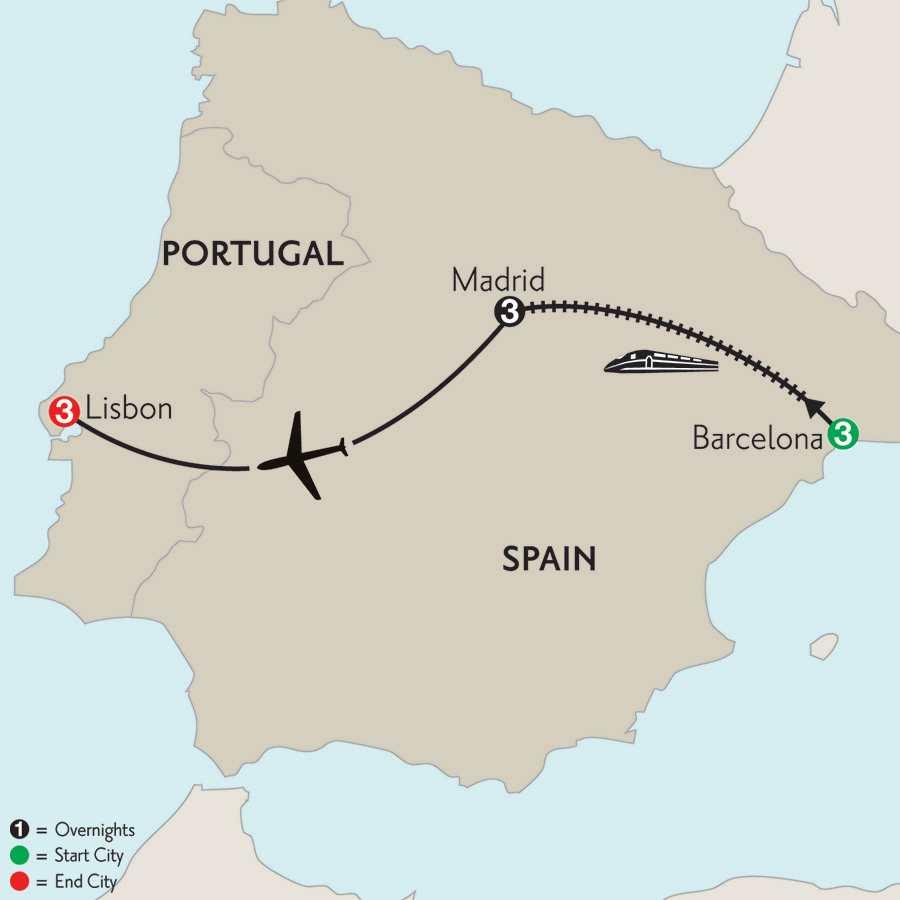 Barcelona, Madrid & Lisbon