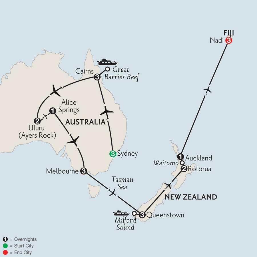 with Queenstown, Rotorua & Fiji