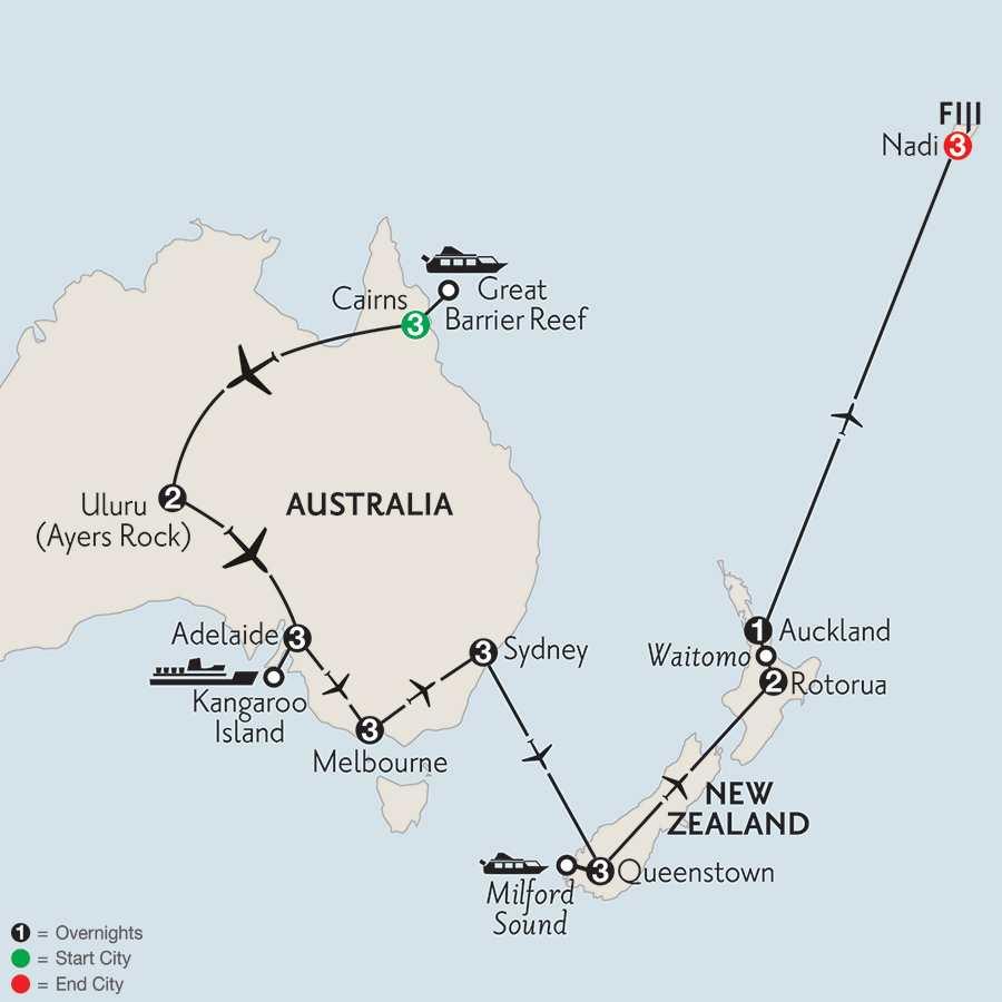 with Queentstown, Rotorua & Fiji