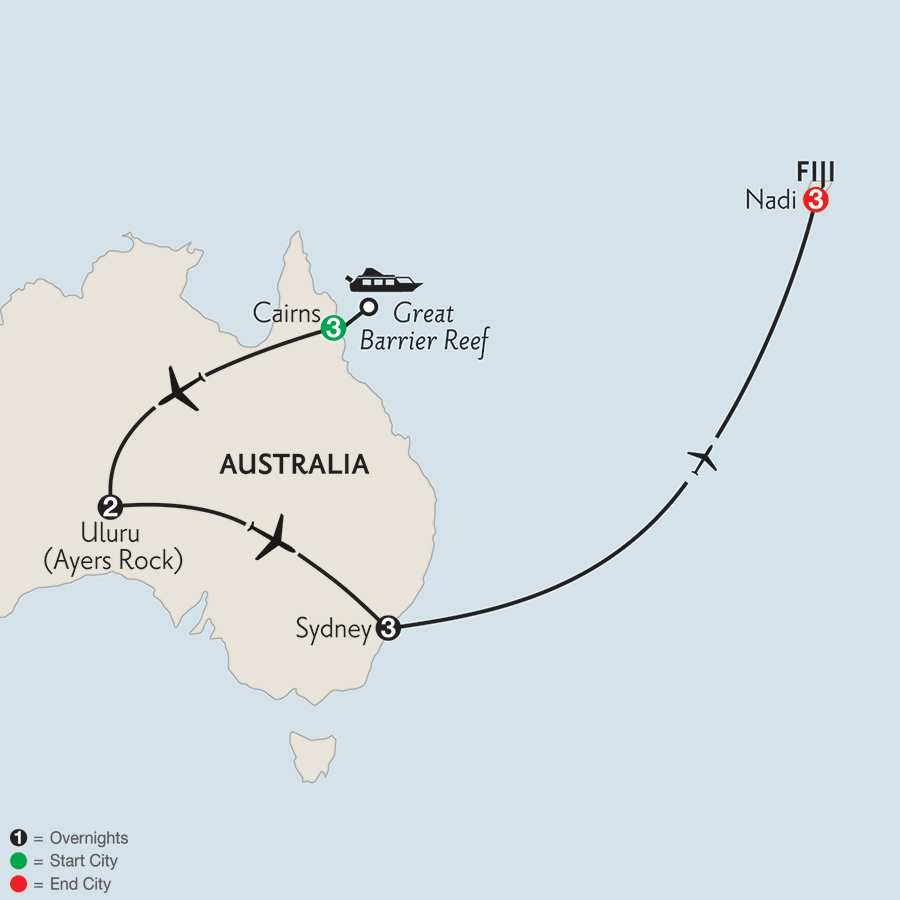 Journey Down Under with Fiji