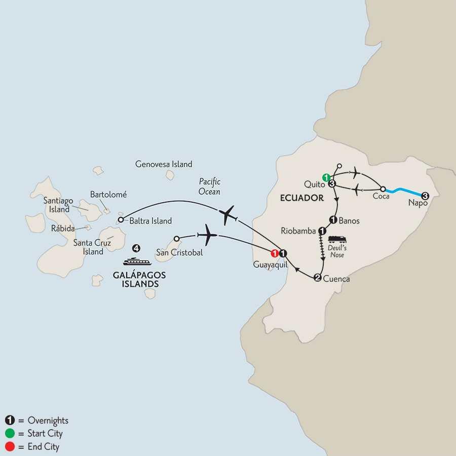 Ecuador Discovery with Ecuador's Amazon & Galápagos Cruise on the Santa Cruz II