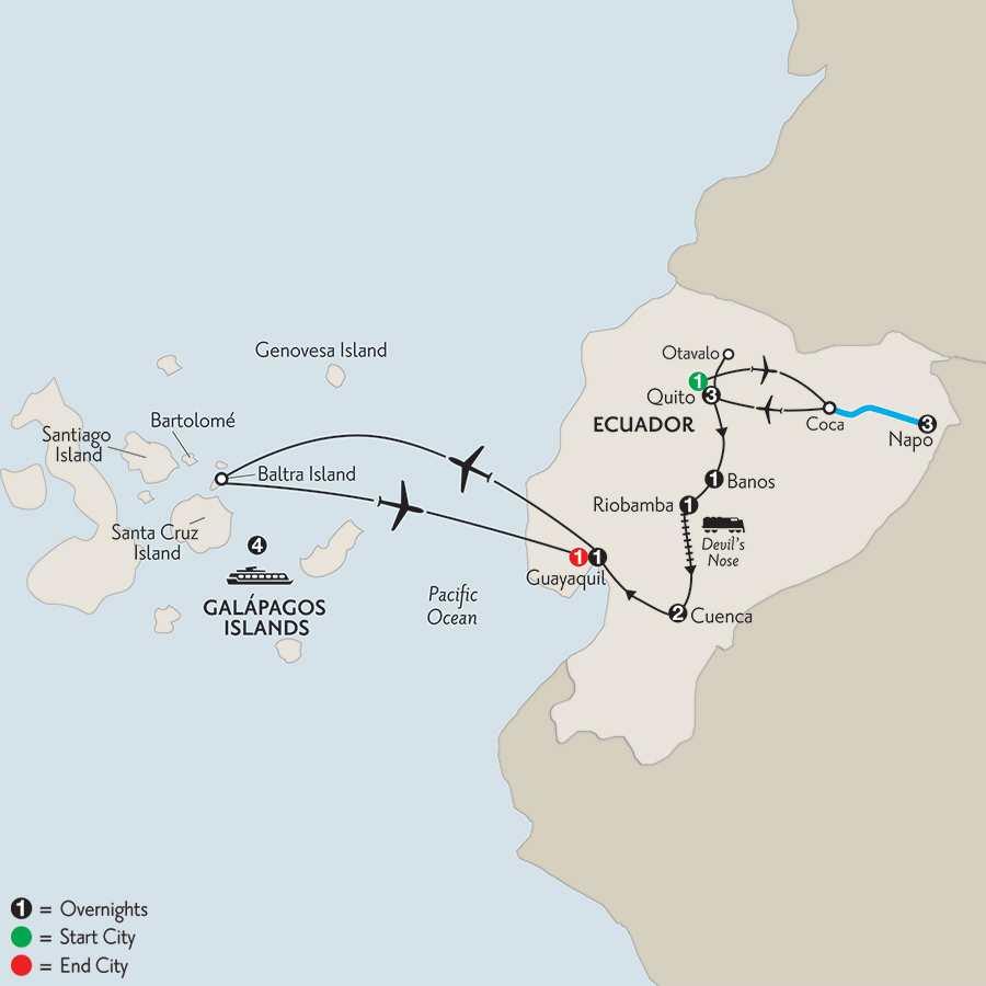 Ecuador Discovery with Ecuador's Amazon & Galápagos Cruise on the La Pinta