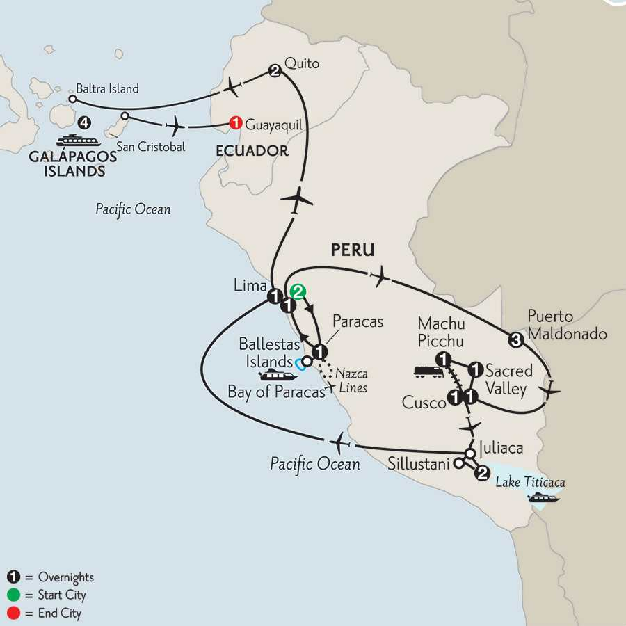 with Peru's Amazon & the Galápagos on the Santa Cruz II