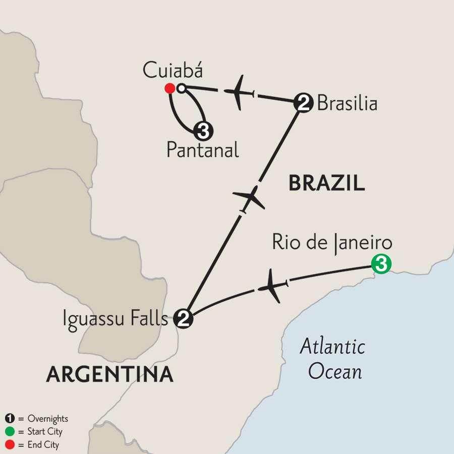 with Brasilia & Pantanal