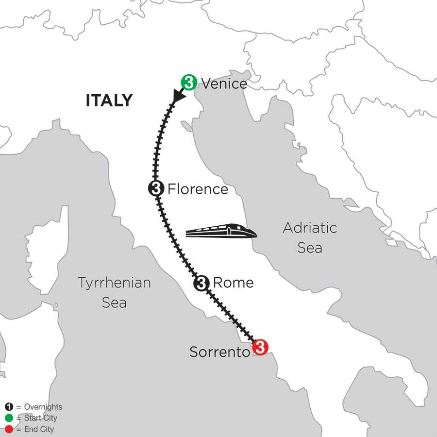 Venice, Florence, Rome & Sorrento