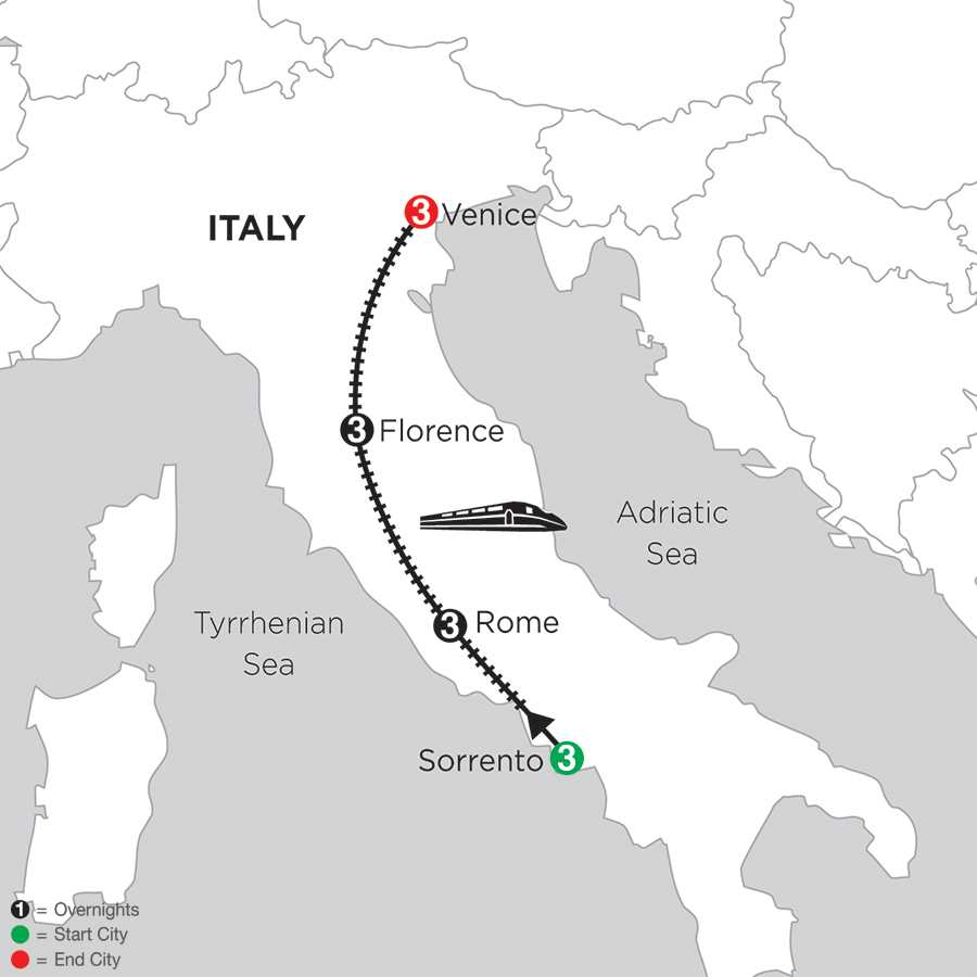 Sorrento, Rome, Florence & Venice