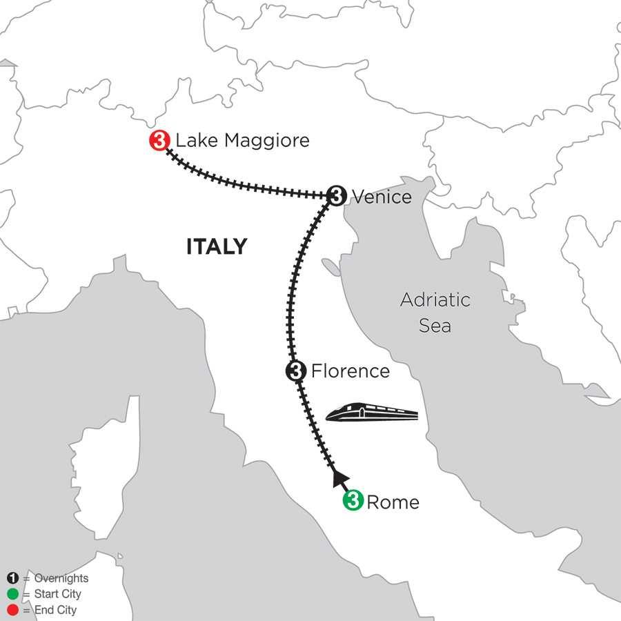Rome, Florence, Venice & Lake Maggiore