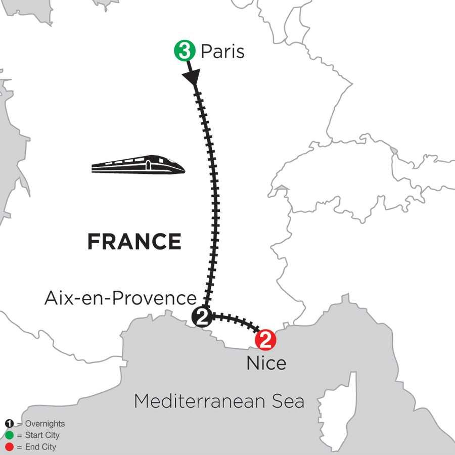 Paris, Aix-en-Provence & Nice