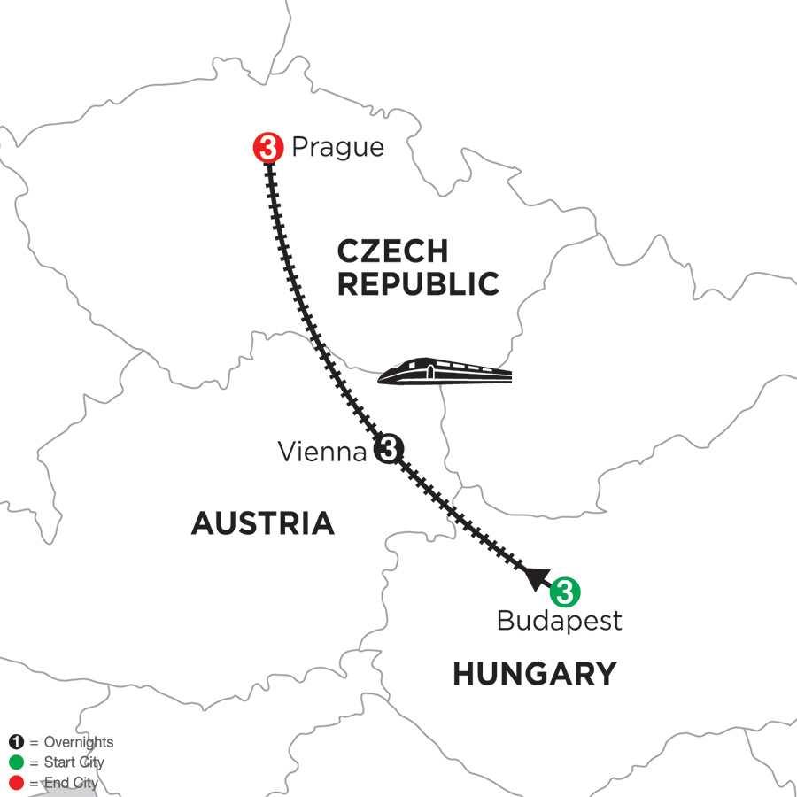 Budapest, Vienna & Prague