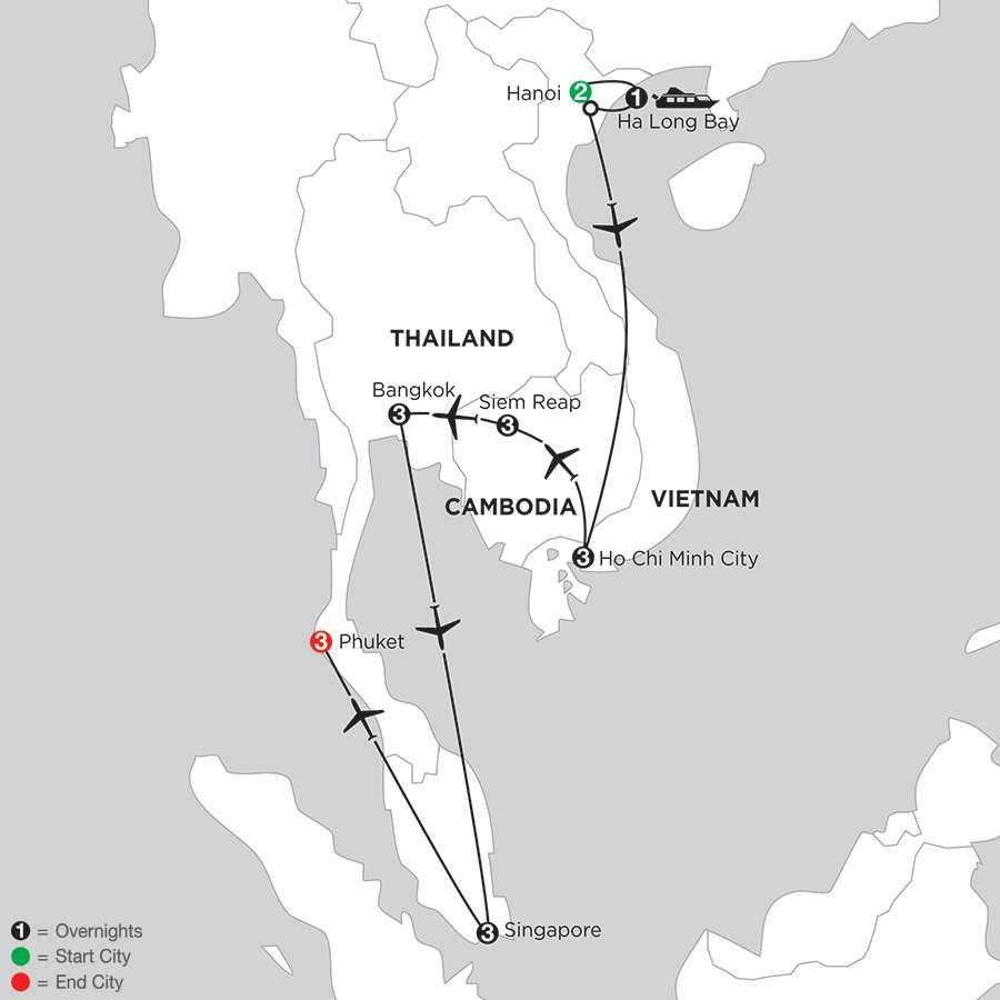 Sensational Southeast Asia with Singapore & Phuket