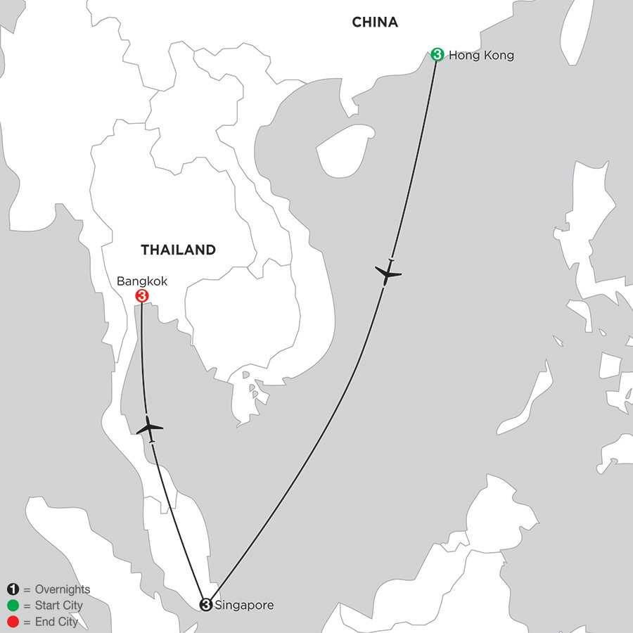 Hong Kong, Singapore & Bangkok