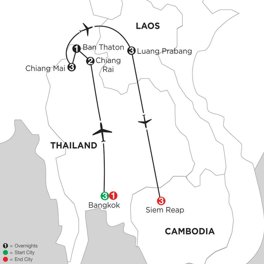 Best of Thailand with Luang Prabang & Siem Reap