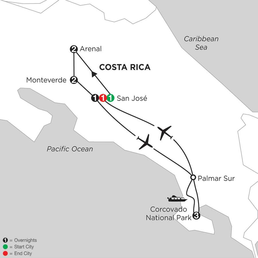 Costa Rica Wonders with Corcovado
