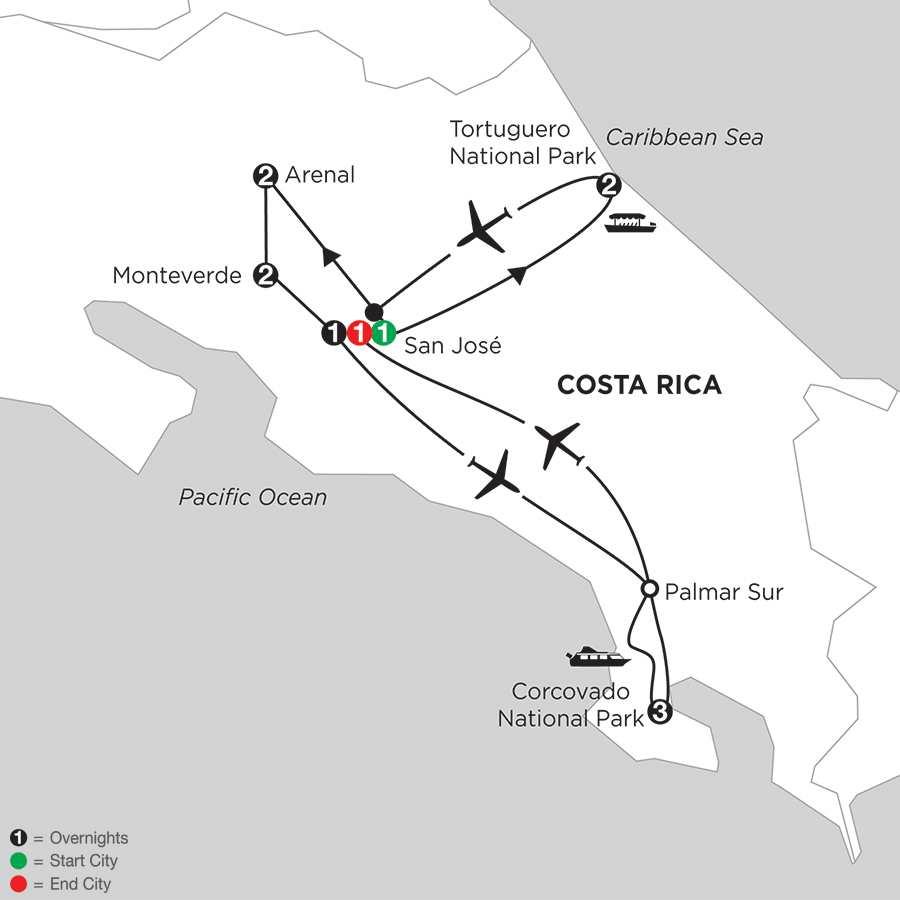 Costa Rica Wonders with Tortuguero & Corcovado
