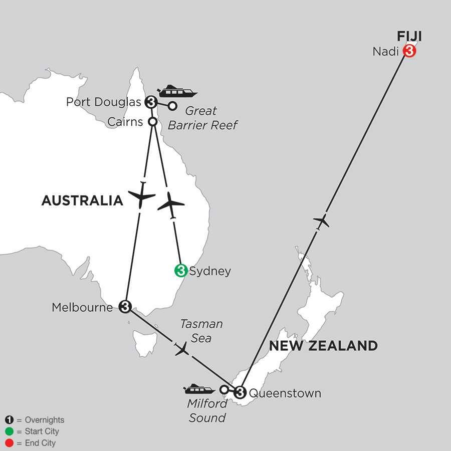 Australian Escape with Queenstown & Fiji