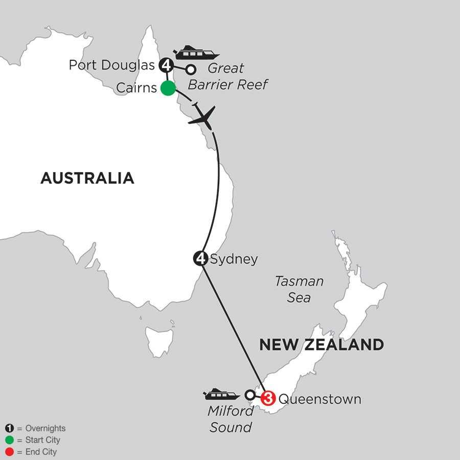 Great Barrier Reef & Sydney with Queenstown