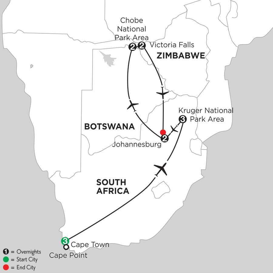 with Chobe National Park & Victoria Falls