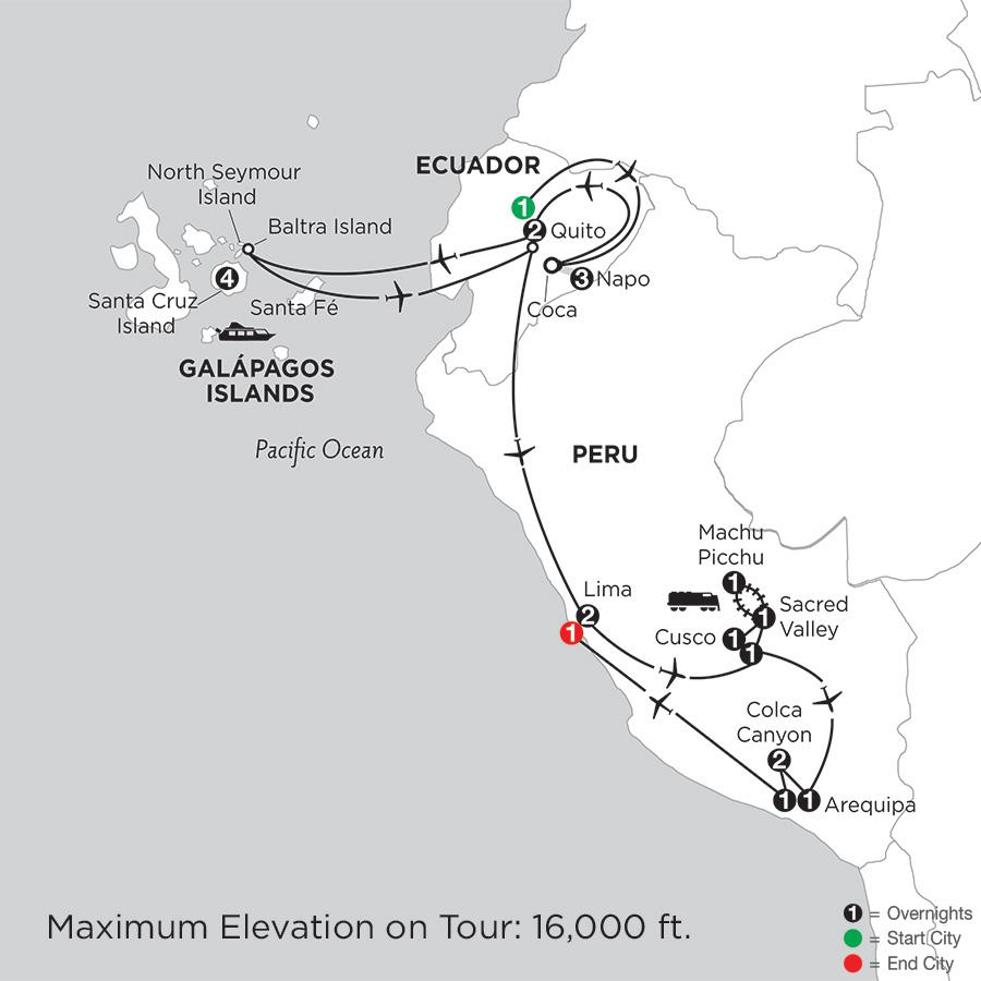 with Ecuador's Amazon, Arequipa & Colca Canyon