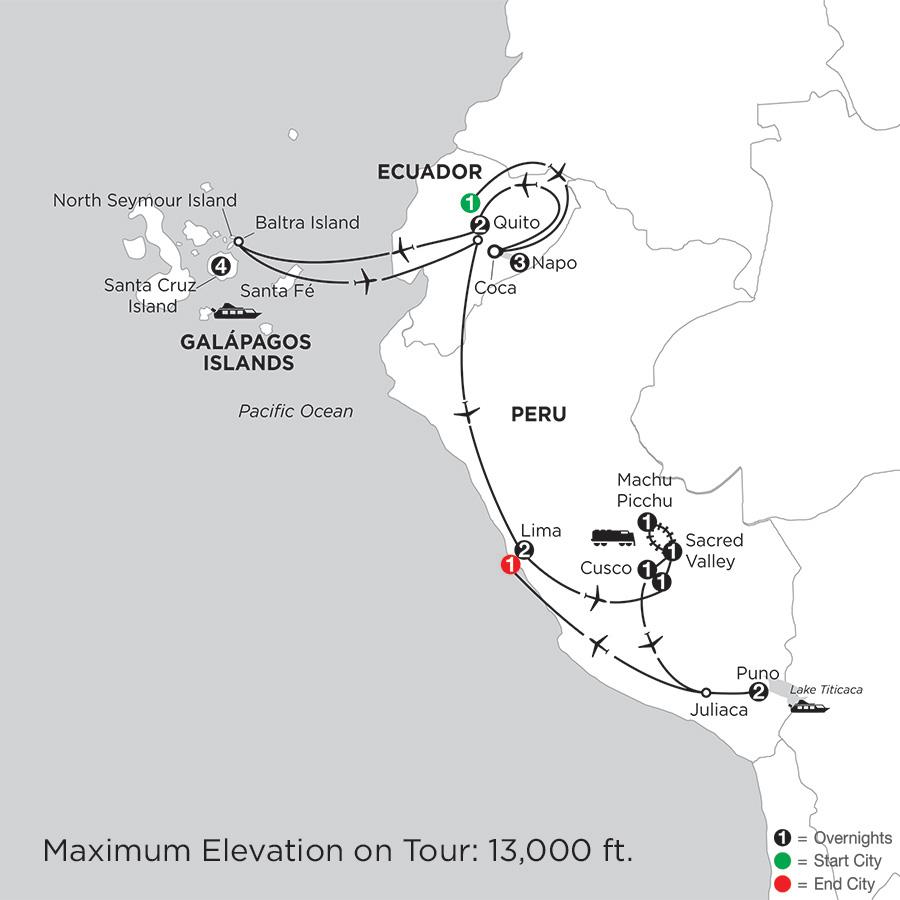 with Ecuador's Amazon & Lake Titicaca