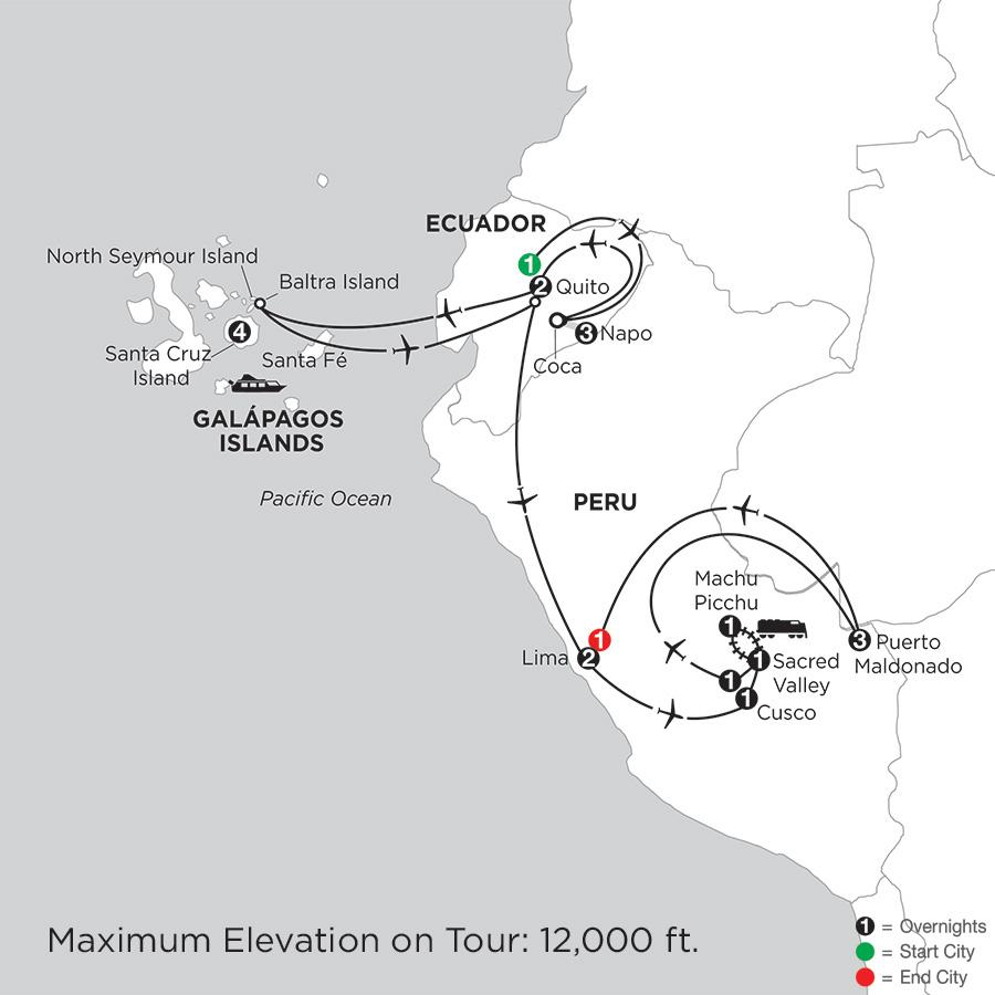 with Ecuador's Amazon & Peru's Amazon