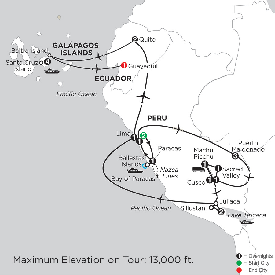 Andean Explorer with Peru's Amazon & the Finch Bay in the Galápagos