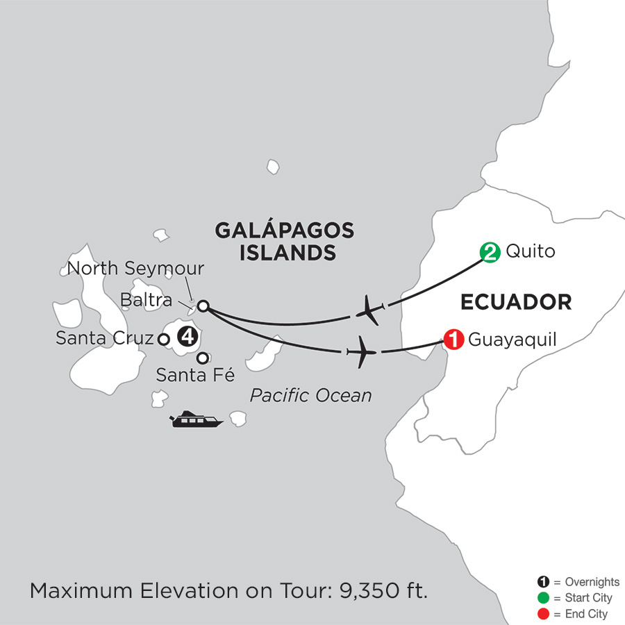 Galapagos island escorted travel packages